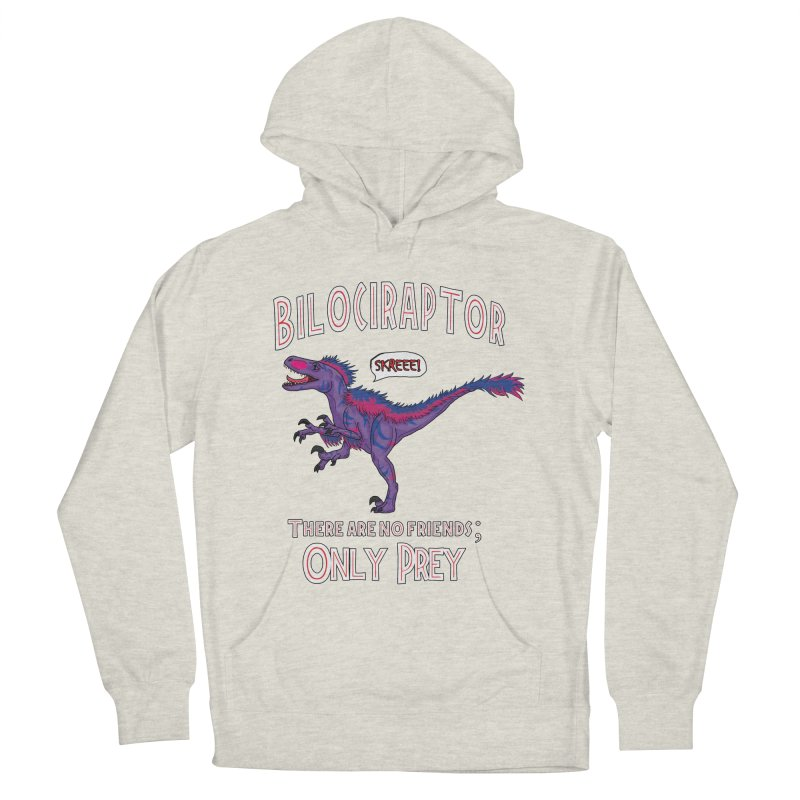 Bilociraptor - Bisexual Pride Women's French Terry Pullover Hoody by TygerwolfeDesigns's Artist Shop