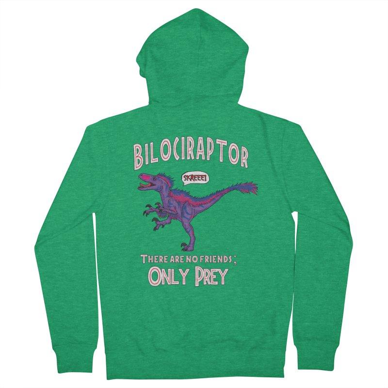 Bilociraptor - Bisexual Pride Men's Zip-Up Hoody by TygerwolfeDesigns's Artist Shop