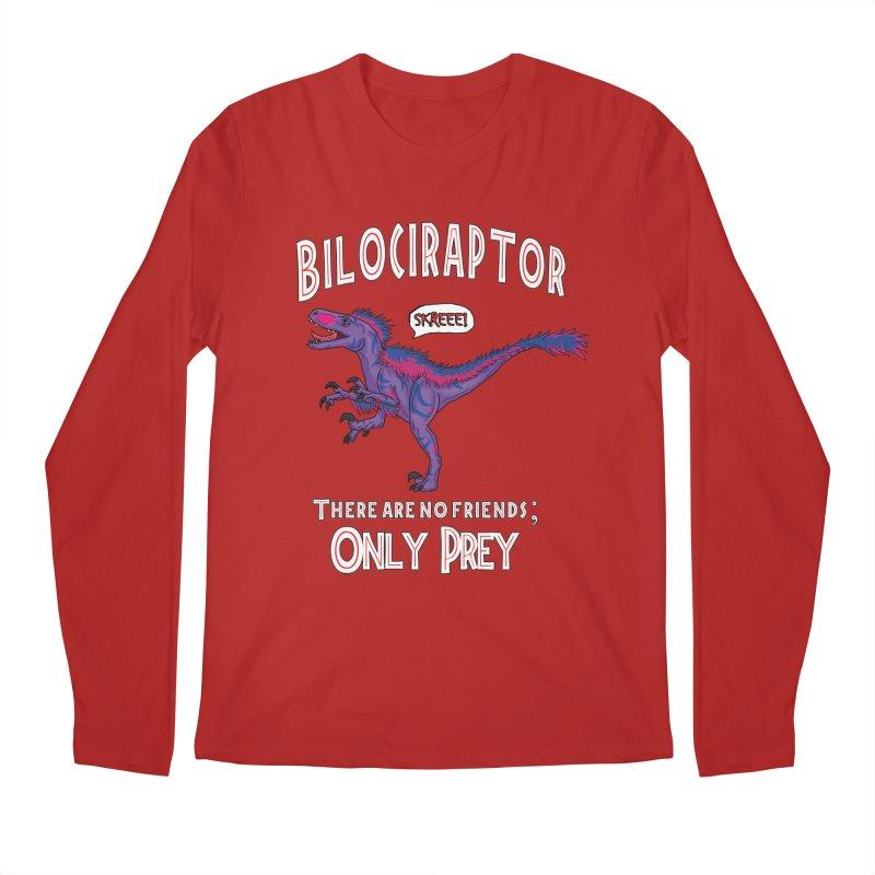 Bilociraptor - Bisexual Pride Men's Longsleeve T-Shirt by TygerwolfeDesigns's Artist Shop