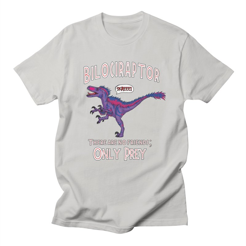Bilociraptor - Bisexual Pride Men's Regular T-Shirt by TygerwolfeDesigns's Artist Shop