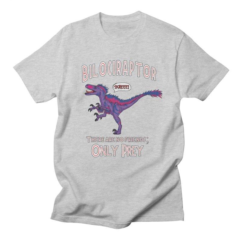 Bilociraptor - Bisexual Pride Men's Regular T-Shirt by TygerwolfeDesigns's Artist Shop