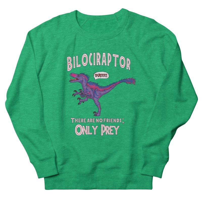Bilociraptor - Bisexual Pride Men's French Terry Sweatshirt by TygerwolfeDesigns's Artist Shop