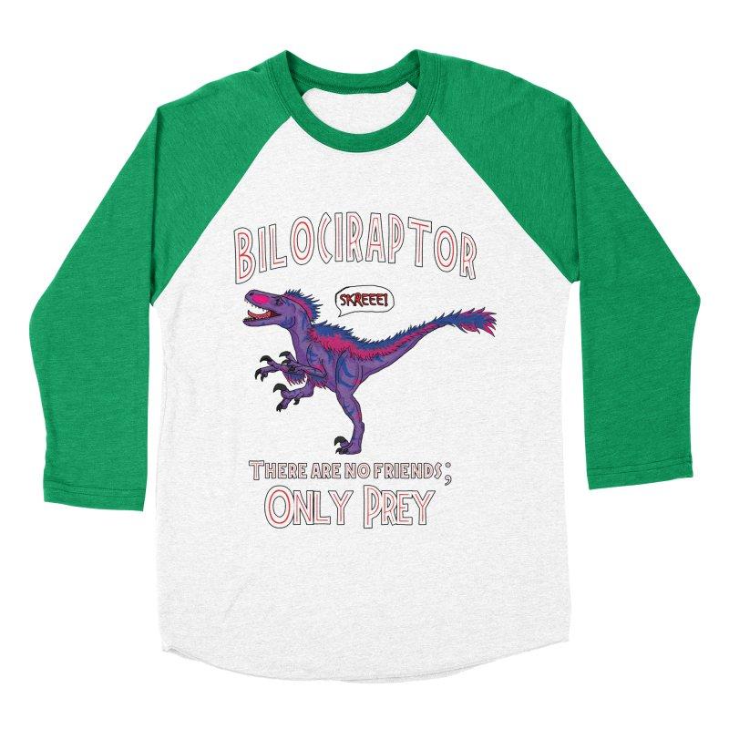 Bilociraptor - Bisexual Pride Men's Baseball Triblend T-Shirt by TygerwolfeDesigns's Artist Shop