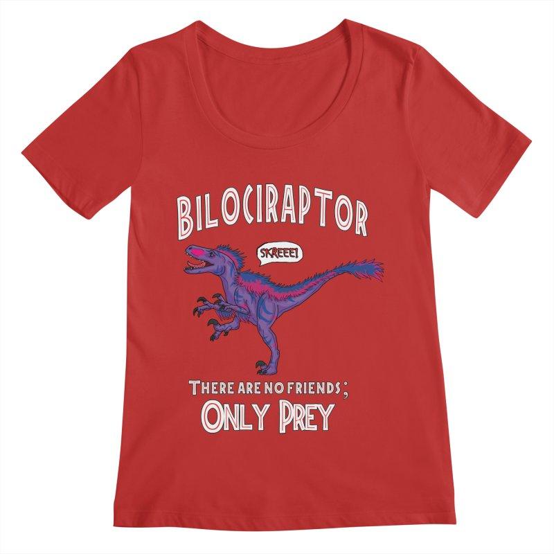 Bilociraptor - Bisexual Pride Women's Regular Scoop Neck by TygerwolfeDesigns's Artist Shop