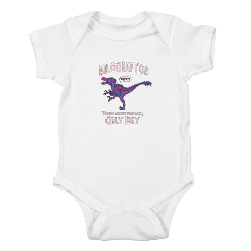 Bilociraptor - Bisexual Pride Kids Baby Bodysuit by TygerwolfeDesigns's Artist Shop