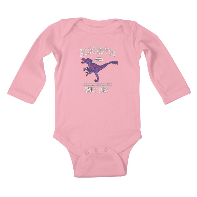 Bilociraptor - Bisexual Pride Kids Baby Longsleeve Bodysuit by TygerwolfeDesigns's Artist Shop