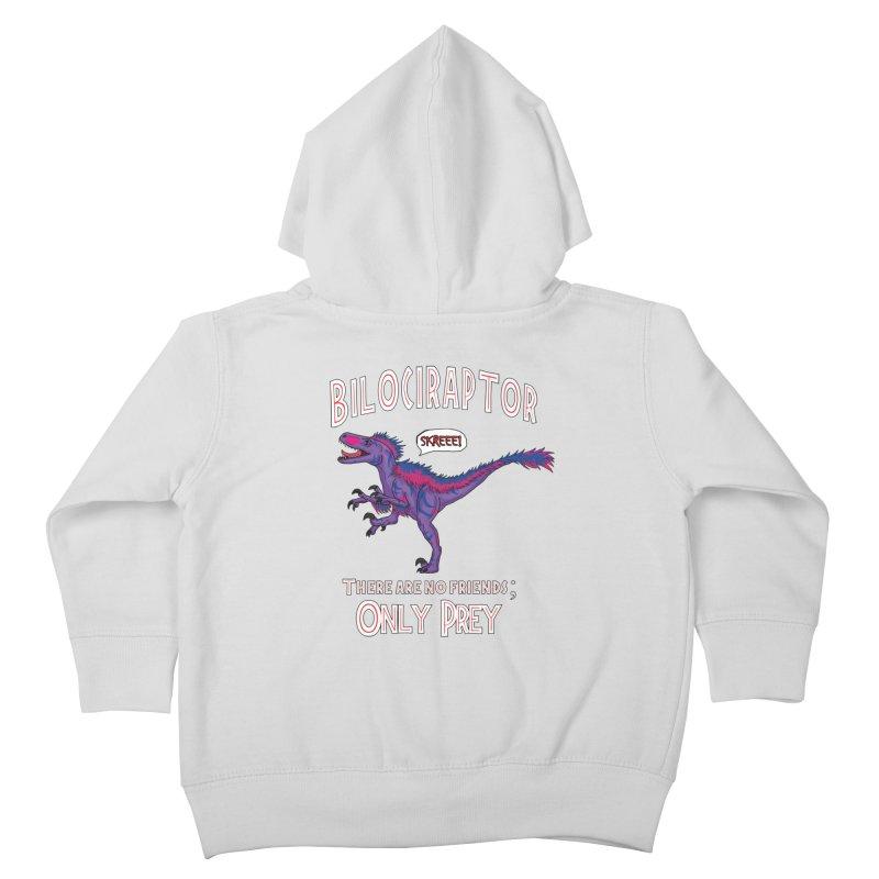 Bilociraptor - Bisexual Pride Kids Toddler Zip-Up Hoody by TygerwolfeDesigns's Artist Shop