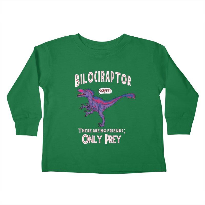 Bilociraptor - Bisexual Pride Kids Toddler Longsleeve T-Shirt by TygerwolfeDesigns's Artist Shop