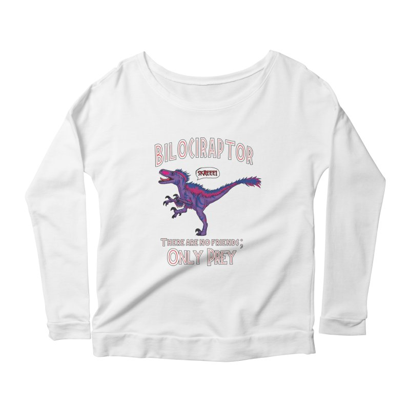 Bilociraptor - Bisexual Pride Women's Scoop Neck Longsleeve T-Shirt by TygerwolfeDesigns's Artist Shop
