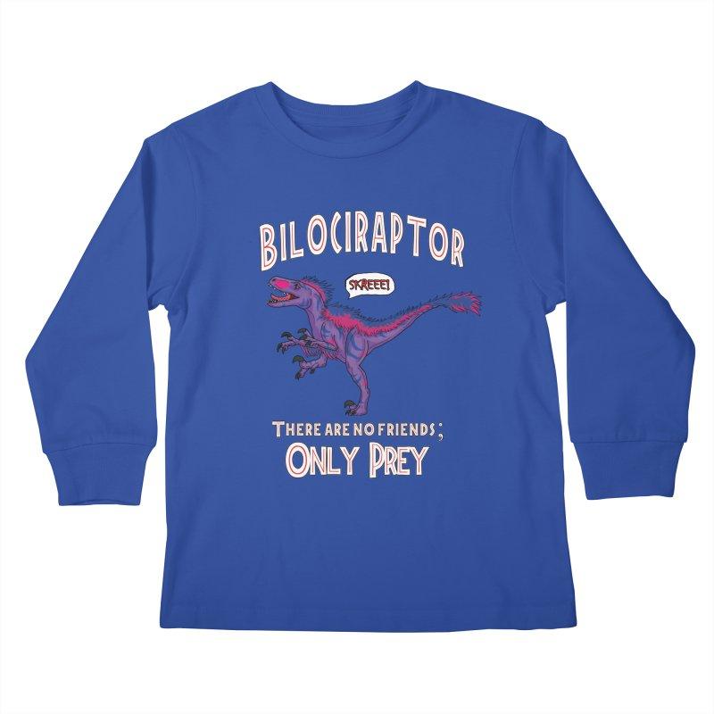 Bilociraptor - Bisexual Pride Kids Longsleeve T-Shirt by TygerwolfeDesigns's Artist Shop