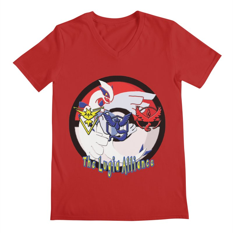 Pokemon Go - The Lugia Alliance Men's V-Neck by TygerwolfeDesigns's Artist Shop
