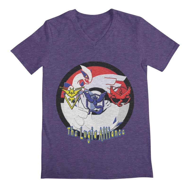 Pokemon Go - The Lugia Alliance Men's Regular V-Neck by TygerwolfeDesigns's Artist Shop