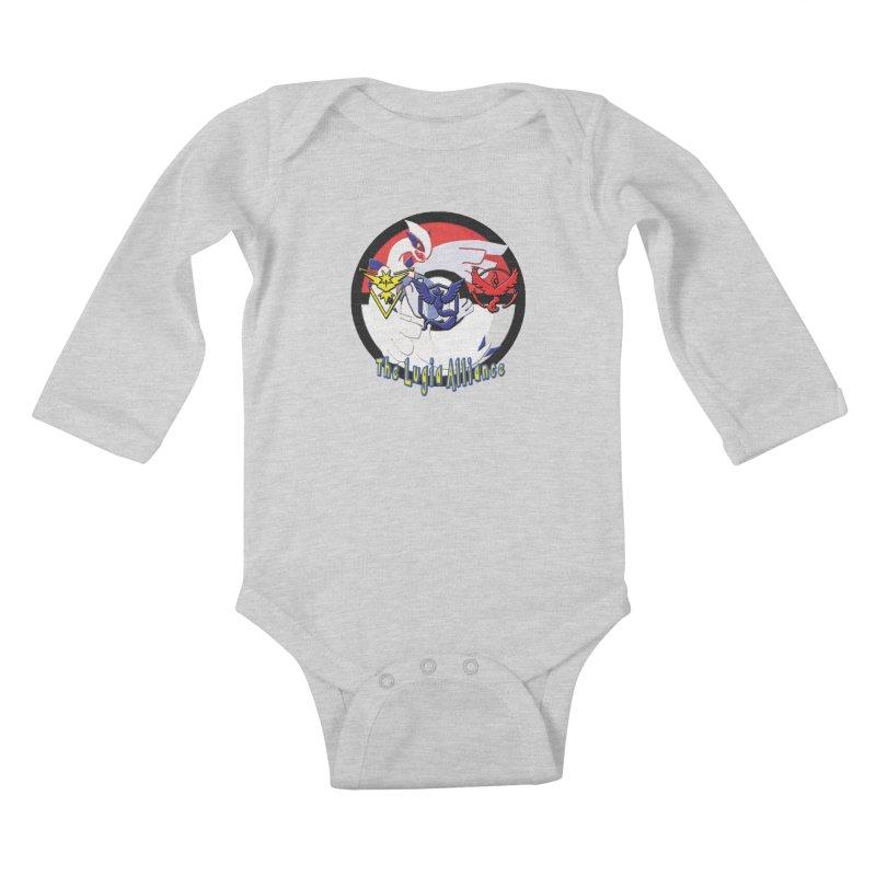 Pokemon Go - The Lugia Alliance Kids Baby Longsleeve Bodysuit by TygerwolfeDesigns's Artist Shop