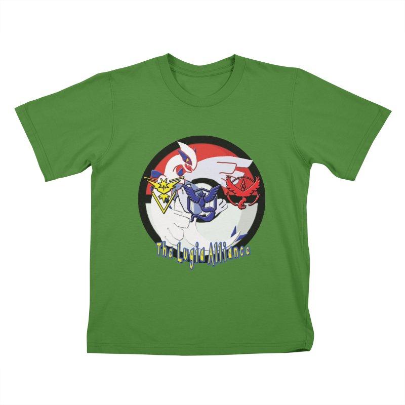 Pokemon Go - The Lugia Alliance Kids T-Shirt by TygerwolfeDesigns's Artist Shop