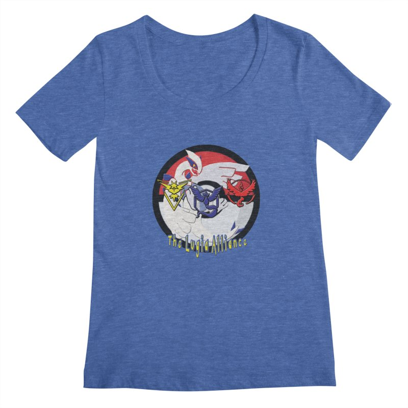Pokemon Go - The Lugia Alliance Women's Scoopneck by TygerwolfeDesigns's Artist Shop
