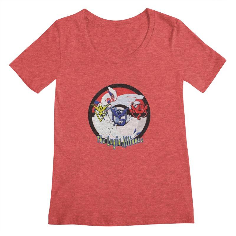 Pokemon Go - The Lugia Alliance Women's Scoopneck by TygerwolfeDesigns's Artist Shop