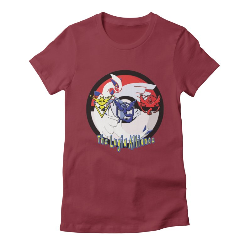 Pokemon Go - The Lugia Alliance Women's Fitted T-Shirt by TygerwolfeDesigns's Artist Shop