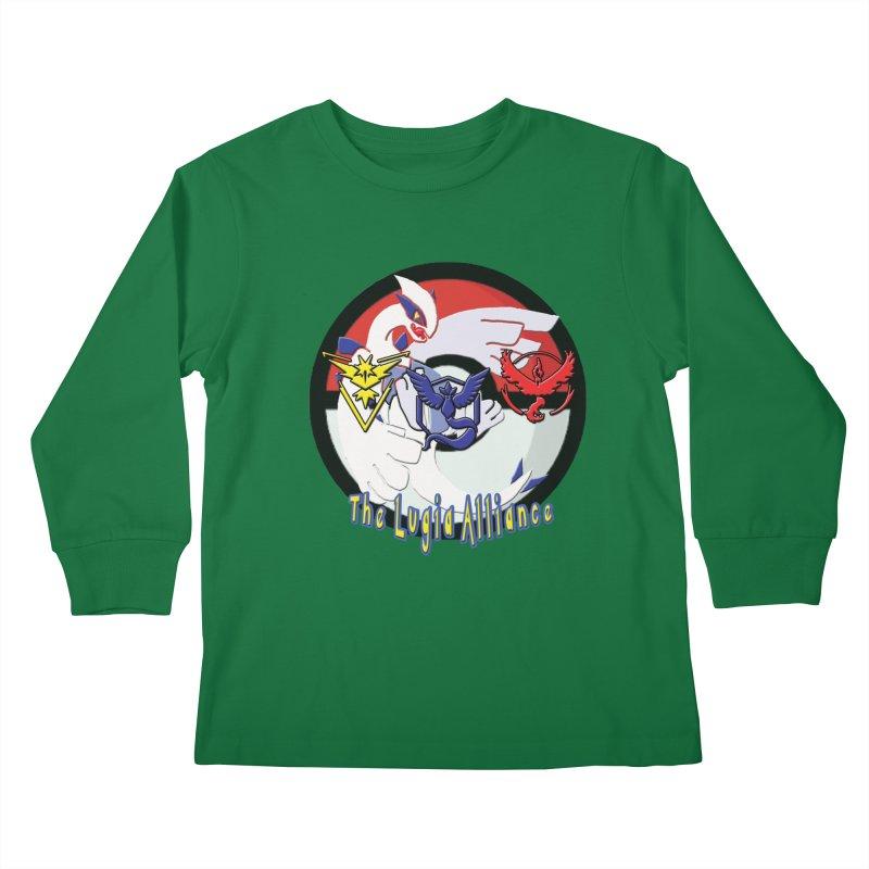 Pokemon Go - The Lugia Alliance Kids Longsleeve T-Shirt by TygerwolfeDesigns's Artist Shop