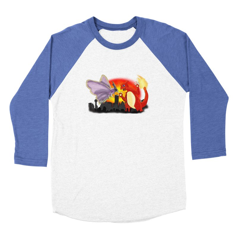 Venomothra Vs. Charzilla Men's Baseball Triblend Longsleeve T-Shirt by TygerwolfeDesigns's Artist Shop