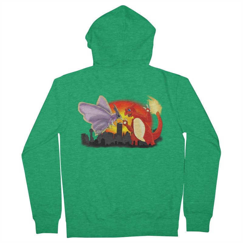 Venomothra Vs. Charzilla Women's French Terry Zip-Up Hoody by TygerwolfeDesigns's Artist Shop