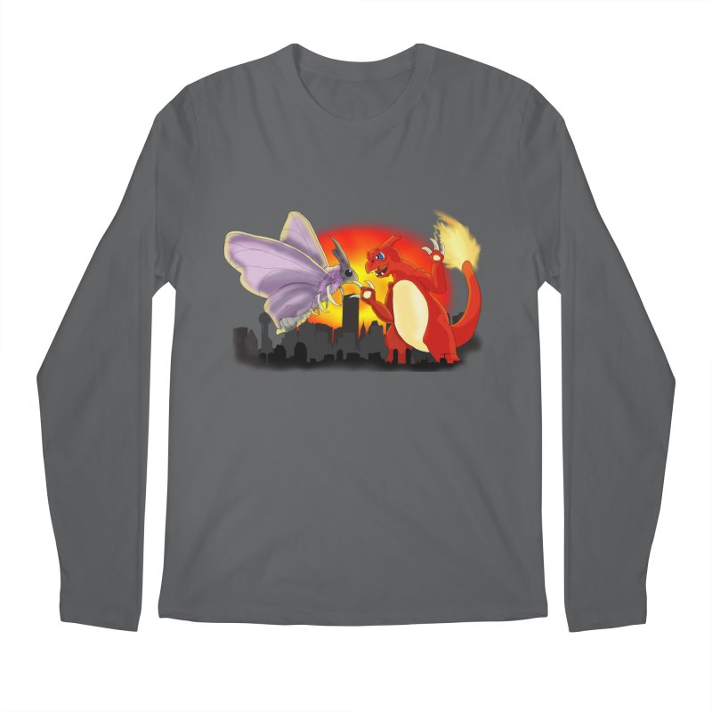 Venomothra Vs. Charzilla Men's Regular Longsleeve T-Shirt by TygerwolfeDesigns's Artist Shop