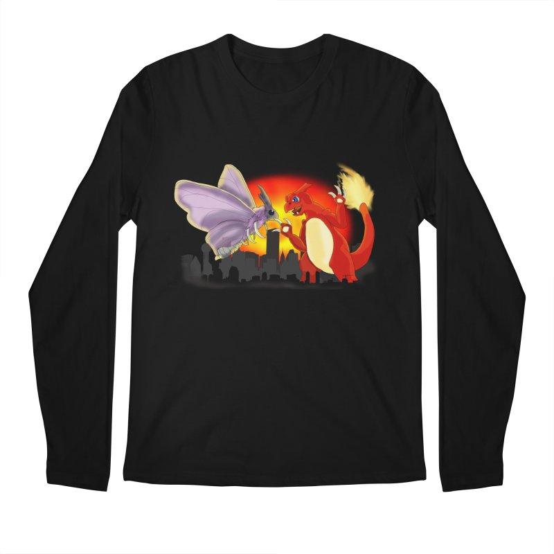 Venomothra Vs. Charzilla Men's Regular Longsleeve T-Shirt by TygerwolfeDesigns's Artist Shop
