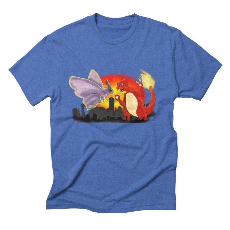 Venomothra Vs. Charzilla Men's Triblend T-Shirt by TygerwolfeDesigns's Artist Shop