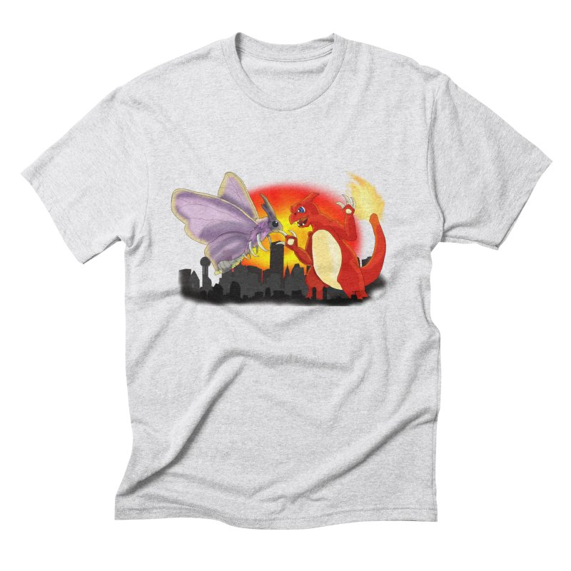 Venomothra Vs. Charzilla Men's Triblend T-Shirt by TygerwolfeDesigns's Artist Shop