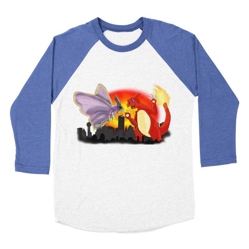 Venomothra Vs. Charzilla Women's Baseball Triblend T-Shirt by TygerwolfeDesigns's Artist Shop