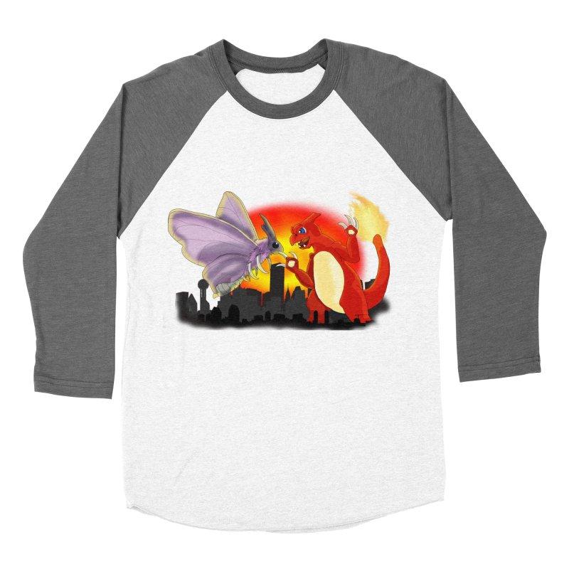 Venomothra Vs. Charzilla Men's Baseball Triblend T-Shirt by TygerwolfeDesigns's Artist Shop