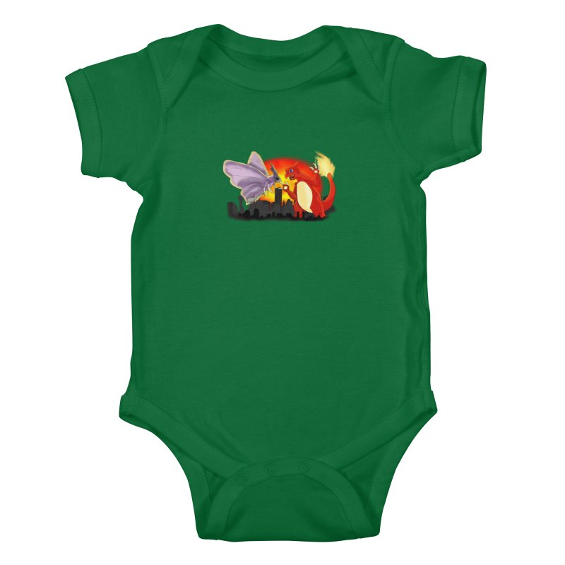 Venomothra Vs. Charzilla Kids Baby Bodysuit by TygerwolfeDesigns's Artist Shop