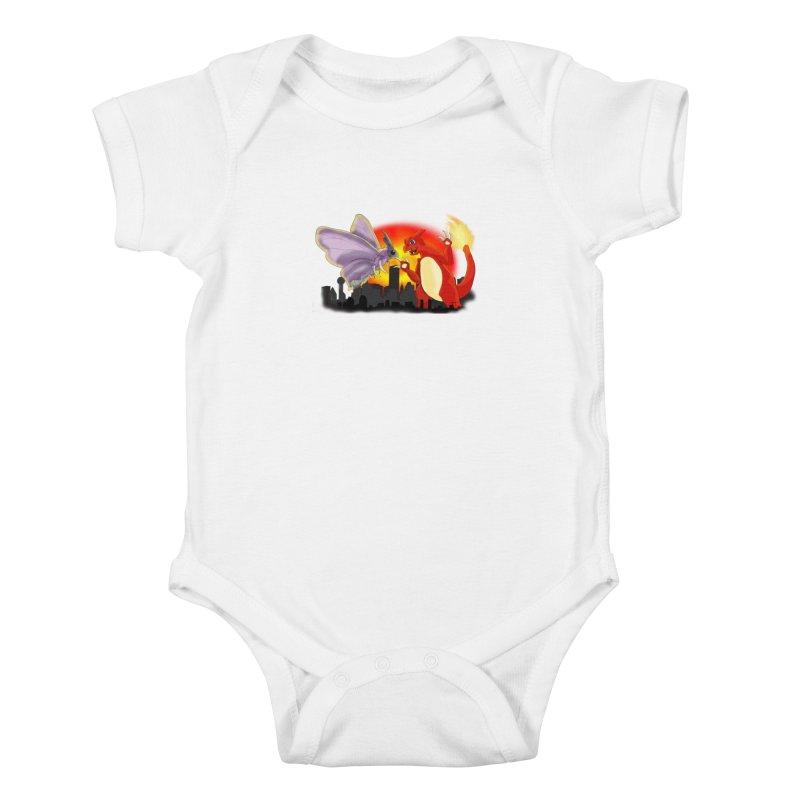 Venomothra Vs. Charzilla Kids Baby Bodysuit by TygerwolfeDesigns's Artist Shop