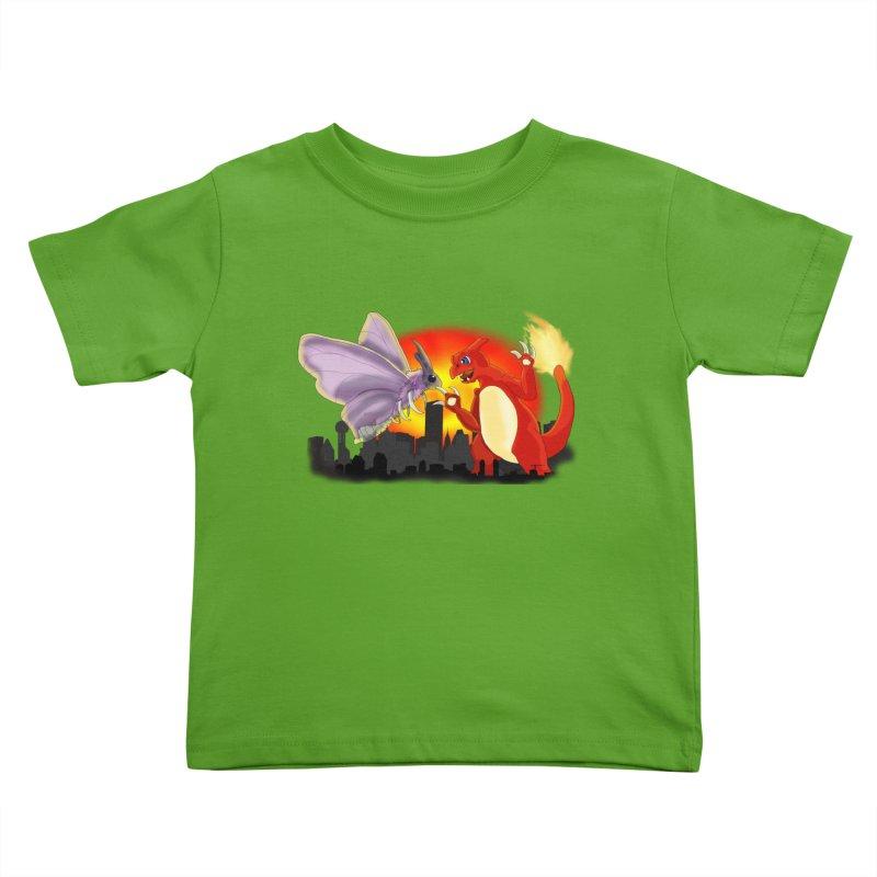 Venomothra Vs. Charzilla Kids Toddler T-Shirt by TygerwolfeDesigns's Artist Shop