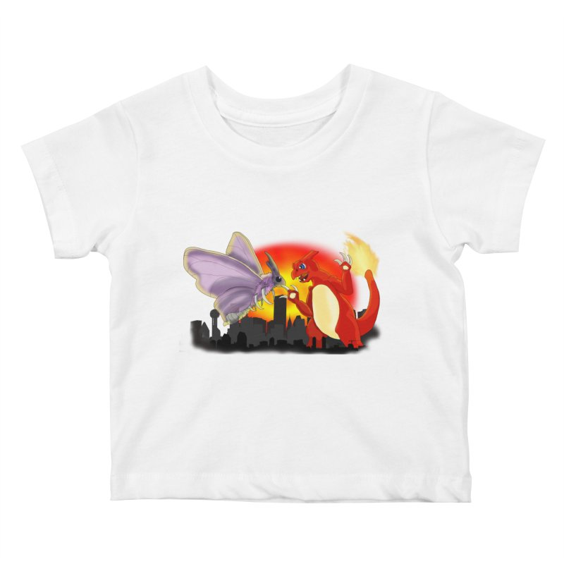Venomothra Vs. Charzilla Kids Baby T-Shirt by TygerwolfeDesigns's Artist Shop