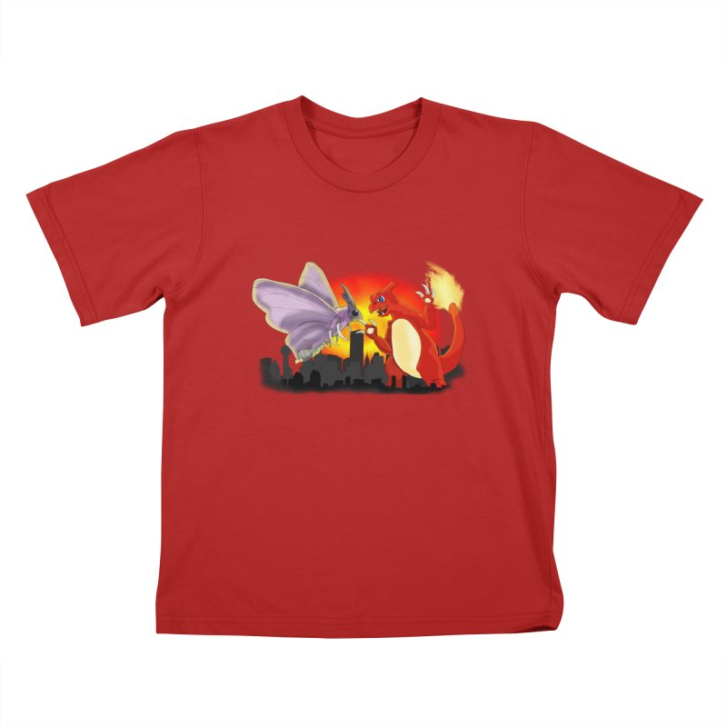 Venomothra Vs. Charzilla Kids T-shirt by TygerwolfeDesigns's Artist Shop