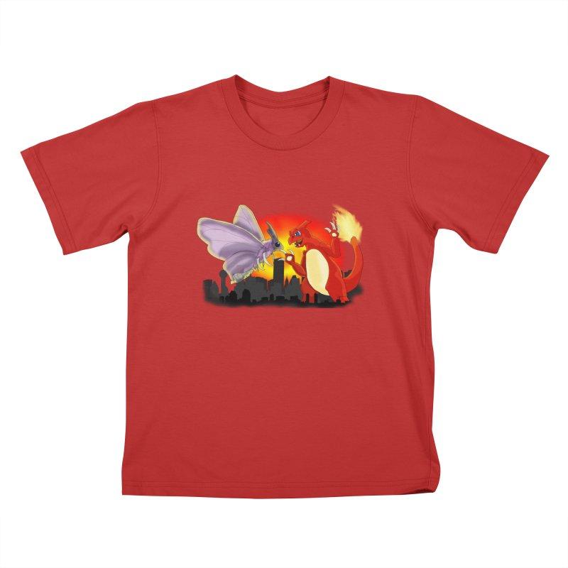 Venomothra Vs. Charzilla Kids T-Shirt by TygerwolfeDesigns's Artist Shop