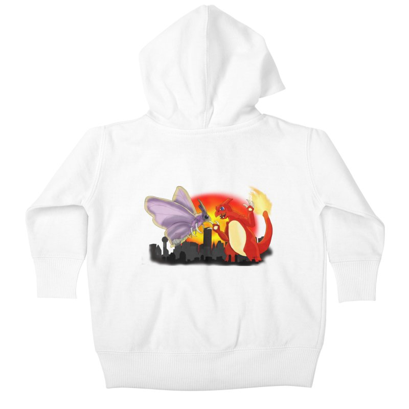 Venomothra Vs. Charzilla Kids Baby Zip-Up Hoody by TygerwolfeDesigns's Artist Shop