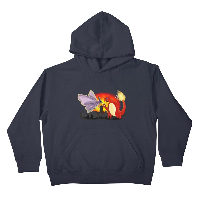 Venomothra Vs. Charzilla Kids Pullover Hoody by TygerwolfeDesigns's Artist Shop