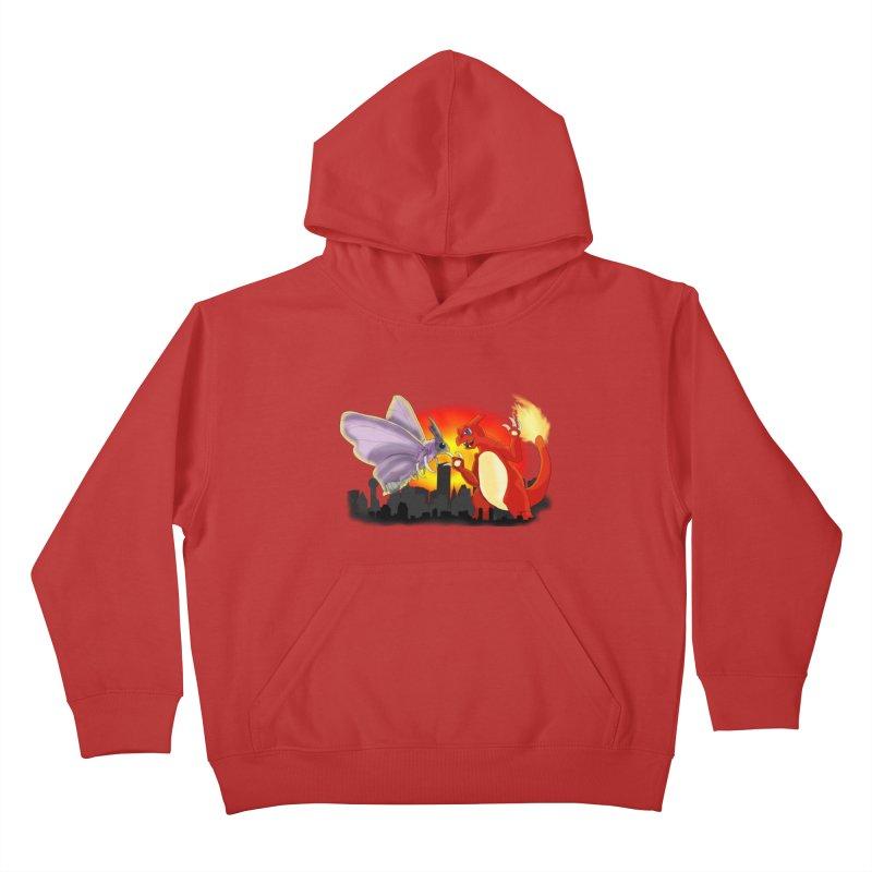Venomothra Vs. Charzilla Kids Pullover Hoody by TygerwolfeDesigns's Artist Shop