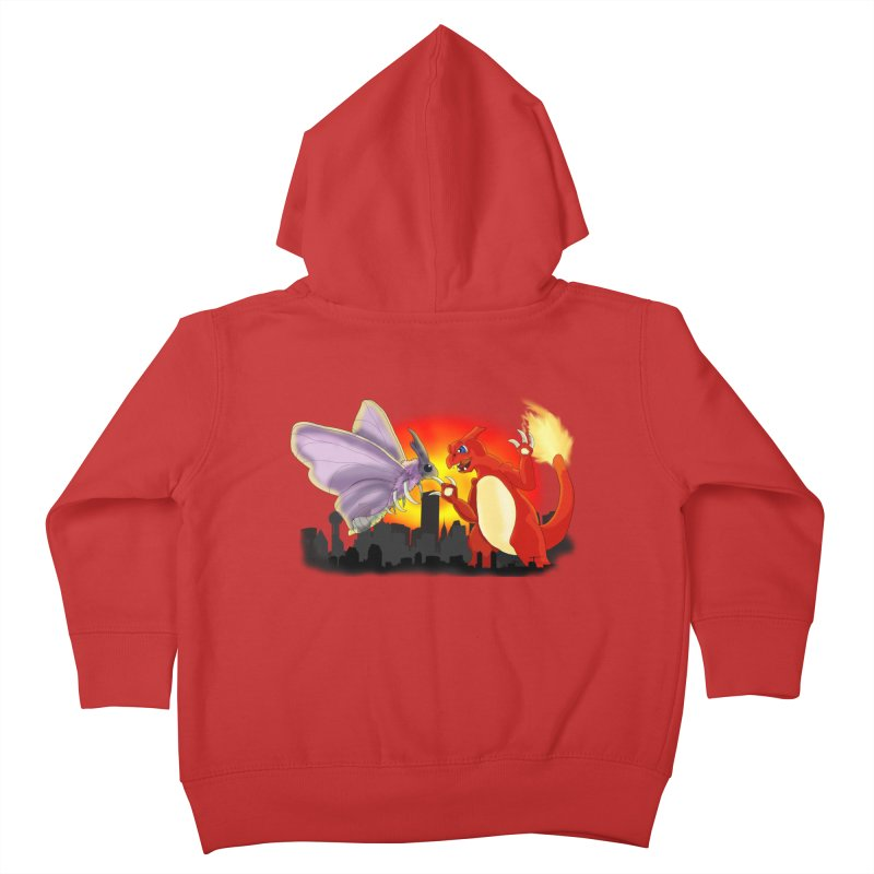 Venomothra Vs. Charzilla Kids Toddler Zip-Up Hoody by TygerwolfeDesigns's Artist Shop