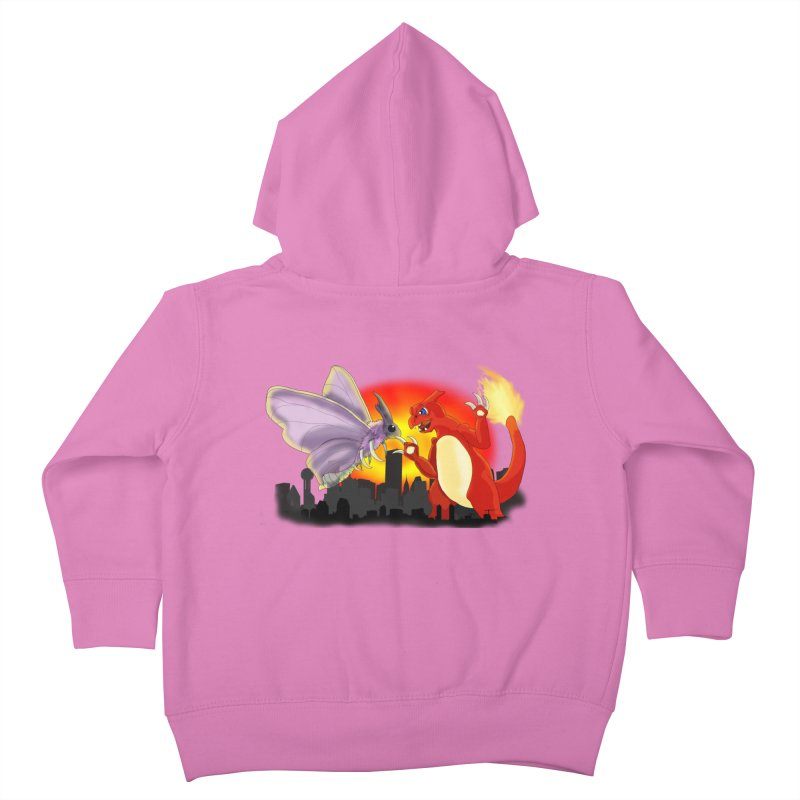Venomothra Vs. Charzilla Kids Toddler Zip-Up Hoody by TygerwolfeDesigns's Artist Shop