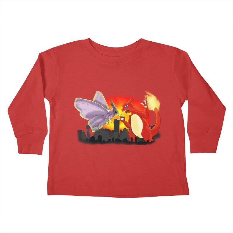 Venomothra Vs. Charzilla Kids Toddler Longsleeve T-Shirt by TygerwolfeDesigns's Artist Shop
