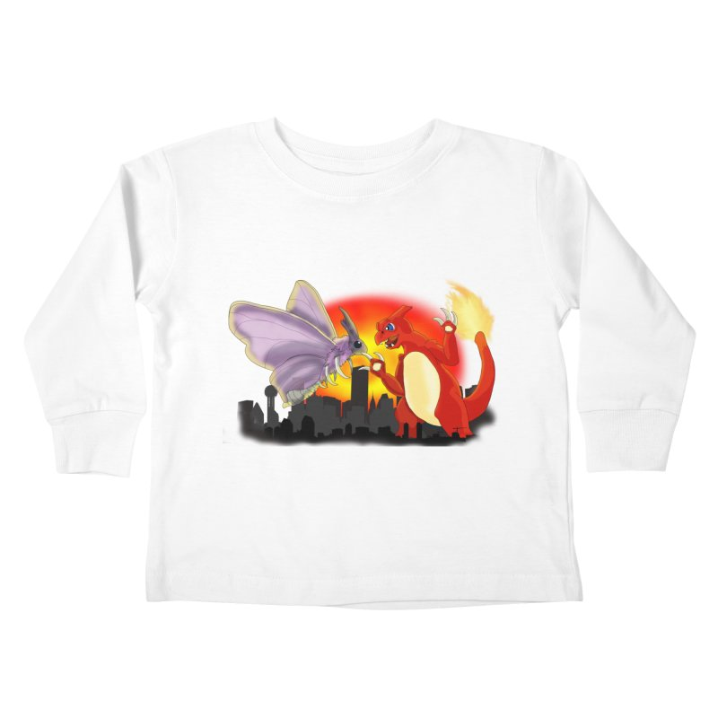 Venomothra Vs. Charzilla Kids Toddler Longsleeve T-Shirt by TygerwolfeDesigns's Artist Shop