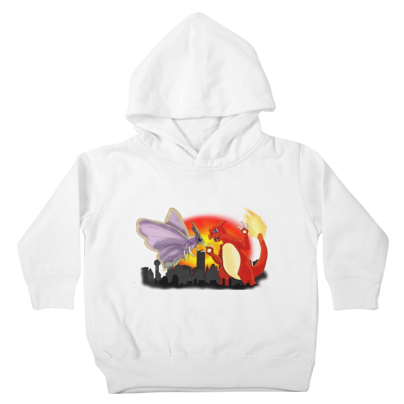 Venomothra Vs. Charzilla Kids Toddler Pullover Hoody by TygerwolfeDesigns's Artist Shop
