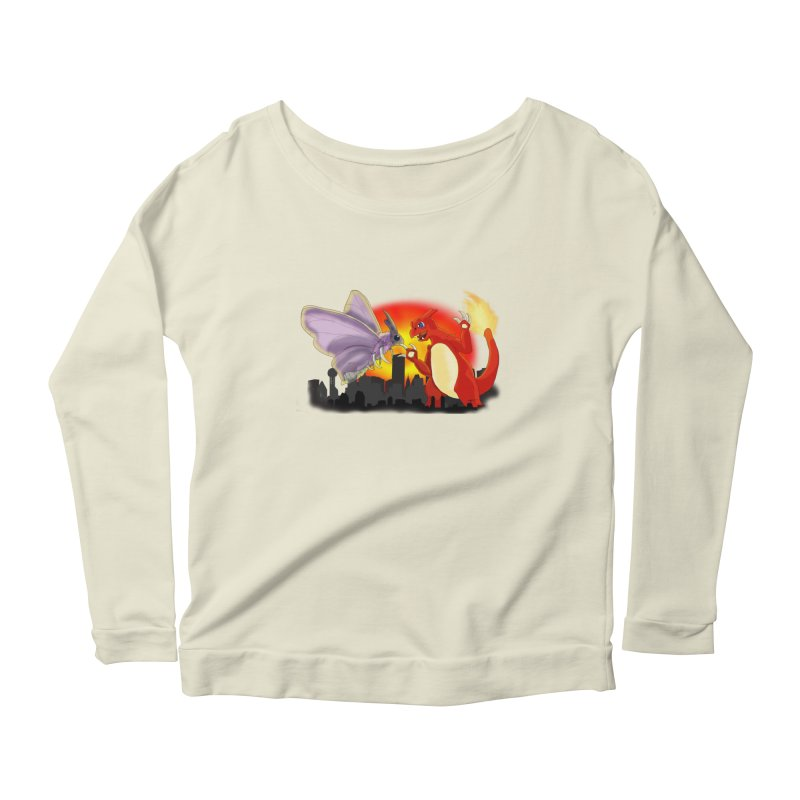 Venomothra Vs. Charzilla Women's Scoop Neck Longsleeve T-Shirt by TygerwolfeDesigns's Artist Shop