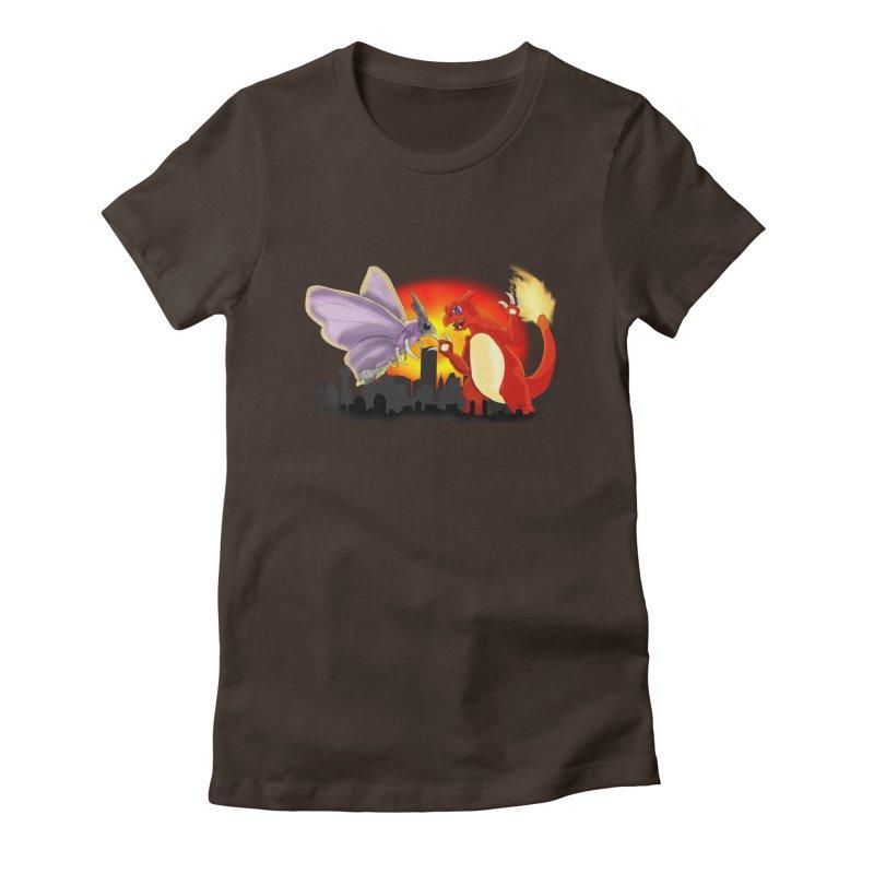 Venomothra Vs. Charzilla Women's Fitted T-Shirt by TygerwolfeDesigns's Artist Shop