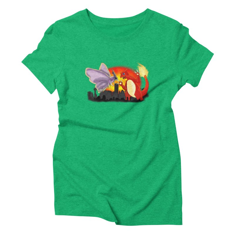 Venomothra Vs. Charzilla Women's Triblend T-Shirt by TygerwolfeDesigns's Artist Shop