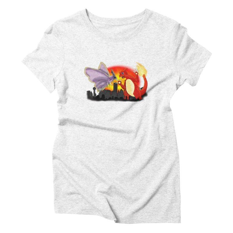 Venomothra Vs. Charzilla Women's Triblend T-shirt by TygerwolfeDesigns's Artist Shop