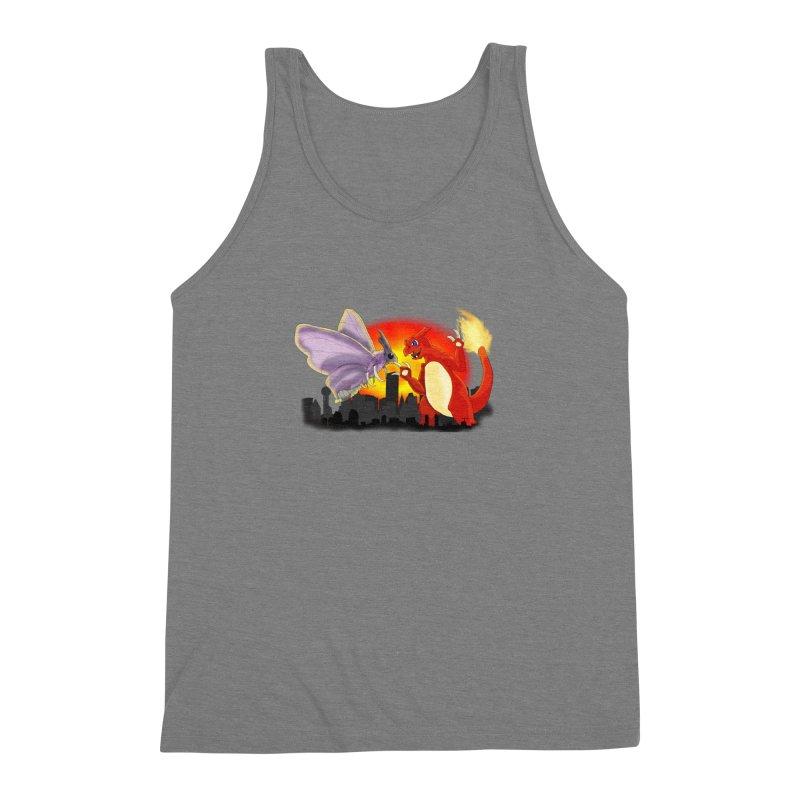 Venomothra Vs. Charzilla Men's Triblend Tank by TygerwolfeDesigns's Artist Shop