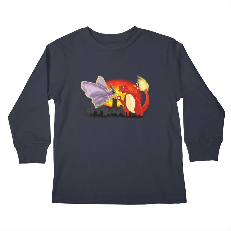 Venomothra Vs. Charzilla Kids Longsleeve T-Shirt by TygerwolfeDesigns's Artist Shop